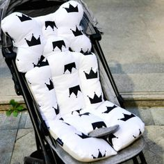 Baby Stroller Cushion Cartoon 2 Sides Soft Seat Pad Mattress Mat Toddler Wheelchair Accessories Pram Trolley Coussin Poussette Activity & Gear