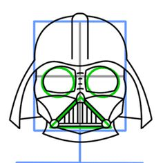 How to draw Darth Vader from Star Wars - completing the helmet