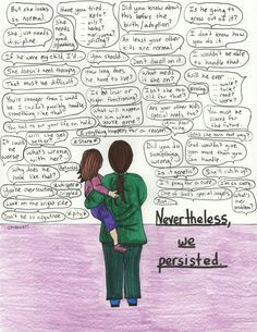 """""""Nevertheless, We Persisted"""" (By Courtney M. Privett)  #specialneedsparents #autism ❤"""