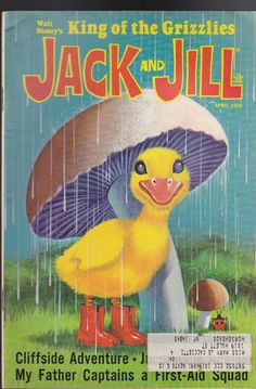 Jack and Jill Magazine Walt Disney's King of the Grizzlies April 1970