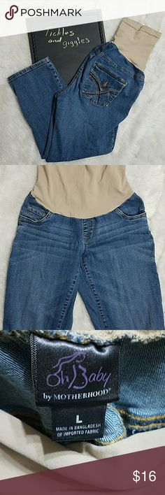 ?? Motherhood Maternity Jeans Comfortable everyday jeans Embroidery on the pockets Oh Baby by Motherhood Jeans Straight Leg