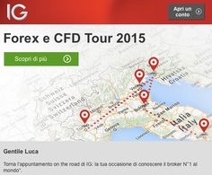 Evento IG Forex e CFD Tour 2015: Io c'ero e tu?
