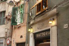 La Trattoria Ugo in via dei Giustiniani a Genova