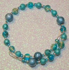 Crystal Blue Double Bracelet by SageBeauties on Etsy, $15.00
