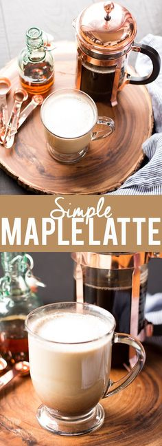 This simple maple latte is easy to make at home with no special equipment! Warm fall flavors of maple and spices will make any morning cozy! This simple maple latte is ea Autumn Coffee, Coffee Cozy, Hot Coffee, Coffee Drinks, Coffee Coffee, Coffee Shops, Coffee Maker, Easy Coffee, Starbucks Coffee