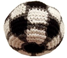 """Soccer Ball Hacky Sack / Foot Bag - Hand Crocheted Made in Guatemala - Comes with Tips & Game Instructions - G5 by Adventure Trading. $6.99. Top Quality hand-crocheted Footbag made in Guatemala. It's the world's most popular Footbag. Approximately 2.25"""" in diameter filled with Recycled Resin Beads. NOTE: Each bag is handmade and may result in slightly different appearance & color. Please see additional photos."""