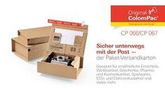 #Paket-Versandkarton CP 066 und CP 067 von #ColomPac®. • #Dinkhauser Kartonagen Vertriebs GmbH, #Selbstklebeverschluss, #Aufreißfaden, #Versandverpackung,  #Wellpappe, #Ordner, #Ersatzteile, #Werbeartikel, #Geschenke, #Pharmaartikel, #Kosmetik, #Spielwaren