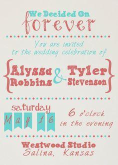 Informal Wedding Invites with adorable invitation ideas