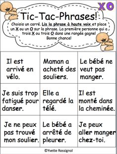 Comptine et activités pour le son é er ez I French phonics activities French Language Lessons, French Language Learning, French Lessons, Ways Of Learning, Learning Resources, Teaching Tools, Read In French, Learn French, First Year Teaching