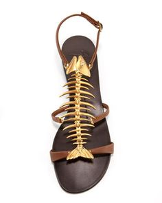 Giuseppe Zanotti Fish Bone Flat Sandal