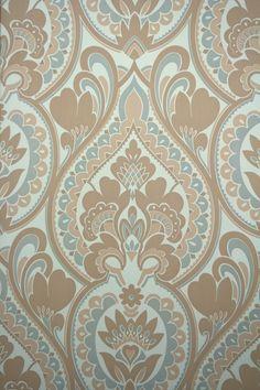 Stylish Vintage Baroque Vinyl Wallpaper