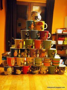 Moomin mug pyramid