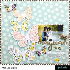 Magical Day 12x12 Scrapbooking Layout by Mari Clarke