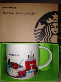 Starbucks Coffee You Are Here Collection, Virginia Mug, 14 oz.: Ceramic Holds Oz Wash Thoroughly before first use Dishwasher and Microwave Safe new with box Starbucks City Mugs, How To Use Dishwasher, Chocolate Pots, Mug Cup, Coffee Cups, Virginia, Tableware, Gifts, Amazon