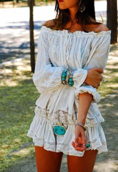 Veranos de la Villa Boho Chic, Gypsy Chic, Boho Gypsy, Boho Fashion Summer, Indie Fashion, Hippie Style, Bohemian Style, Gypsy Style, Bohemian Jewelry