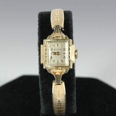 Vintage Bulova 10K Plated Rolled Gold Ladies Art Deco Style Watch on Etsy, $16.95