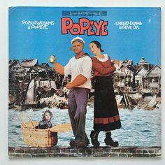 Popeye Soundtrack LP Vinyl Record Album, The Boardwalk Entertainment Co - SW-36880, 1980, Original Pressing Promo