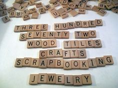 372 Wood Tiles Vintage 1964 Scrabble Anagrams Letters Crafts  Scrapbooking #SelchowRighter