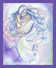 mermaid & baby