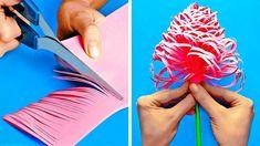 Diy Crafts For Girls, Diy Crafts Hacks, Diy Arts And Crafts, Crafts To Do, Diys, Cool Paper Crafts, Paper Crafts Origami, Diy Paper, Flower Making Crafts