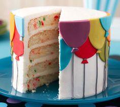 Birthday Balloons Layered Cake
