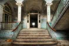Corridor Lost Places, Last Call, Abandoned Houses, Decoration, Backdrops, Stairs, Architecture, Corridor, Aluminium