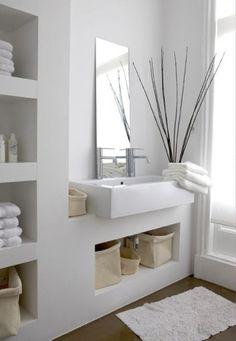Idee salvaspazio per bagno piccolo - Mobile circolare per lavabo