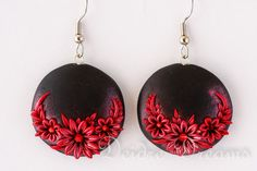 Goth Earrings Flower Earrings Christmas Earrings by DeidreDreams, $40.00