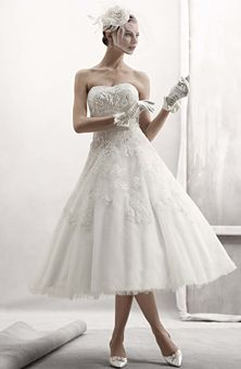 Abito da sposa Cassini tea lenght da David' s Bridal