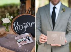 15 Non-Traditional Wedding Programs via Brit   Co