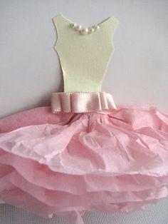 Tissue Paper Ballerina Card
