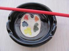 Artists Brush Holder Ceramic Brush Holder Artists Organizer Ceramics and Pottery Dish Bowl Pottery Handmade Ceramic Stoneware Pottery Black by SharsArtPottery on Etsy https://www.etsy.com/listing/184111356/artists-brush-holder-ceramic-brush