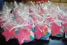 starfish and beachball cookie favors