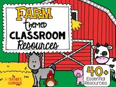 This Farm Theme resource pack was completely updated in April 2016.  It is an ALL NEW resource with everything you need for a Farm Themed classroom!This Farm theme pack includes everything you need to turn your classroom into a fun, engaging learning environment for your little stars!