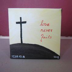 Love Never Fails. $10.00, via Etsy.