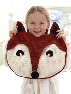Foxy PJ Pillow | Yarn | Free Knitting Patterns | Crochet Patterns | Yarnspirations