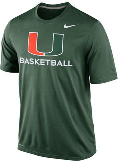Nike Men's Miami Hurricanes Basketball Practice T-Shirt