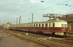 A old (1930´s) Diesel unit passenger train, opered by Deutsche Reichsbahn, in the East Germany (DDR)