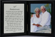 5x7 50th Anniversary Poem Double Hinged BLACK Picture/Photo Frame ~ A Wonderful 50th Anniversary Gift! by PersonalizedbyJoyceBoyce, http://www.amazon.com/dp/B007Q24QTQ/ref=cm_sw_r_pi_dp_24aHqb0XBPSGS