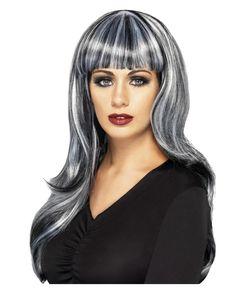 Fashion Streaks Blackyellow Emo Goth Halloween Wig Adults Fancy One Size