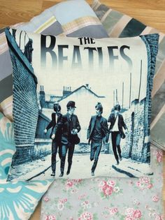 """17"""" Square Cushion Cover. Very desirable, would make a beautiful gift! The Beatles Theme. Be sure to add me to yourfavourites list ! 