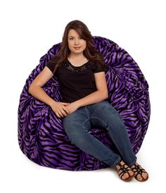 Our animal fur bean bag chairs are available in 7 different animal patterns. Our faux fur beanbags come with a fully removable cover that is washable. Fur Bean Bag, Large Bean Bag Chairs, Purple Zebra, Wayfair Living Room Chairs, Girls Bedroom, Bedroom Ideas, Animal Fur, Stuffed Animal Patterns, Exotic Pets