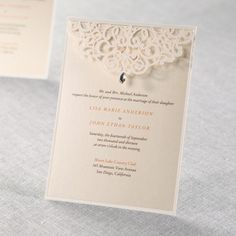 Jeweled Laser Cut by B Wedding Invitations