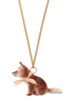 {12. go-to modcloth accessory} My outfit wouldn't be complete with a whimsical charm necklace. And don't tell my doggies, but I secretly ADORE foxes! #modcloth #makeitwork