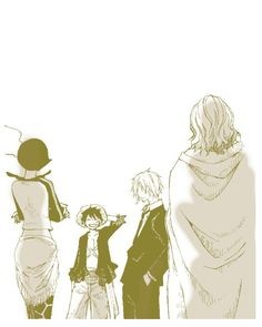Monkey D Luffy Sanji Shakky Silvers Rayleigh One Piece