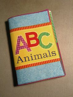 ABC Animals Soft Fabric Children's Book  Learn the by ReCutDesigns, $21.00