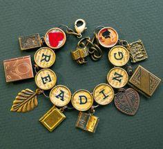 Heart Reading Bracelet Book Lover Readers Charm by ALikelyStory, $38.95