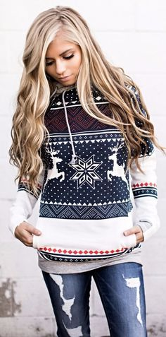 A cozy winter sweatshirt to buy for the Christmas