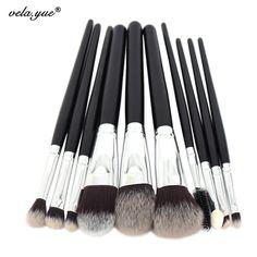 10 sztuk Profesjonalne Pędzle Do Makijażu Zestaw Wysokiej Jakości Makeup Tools Kit Premium Pełna Funkcja