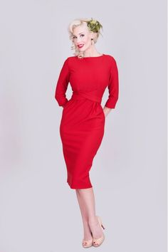 Vicki dress in red by Tatyana Clothing